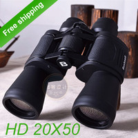 Cheap Wholesale-OP-HD Military high-powered binoculars 20X50 zoom Optical military Binocular Telescope (7000m )World Cup - Free shipping