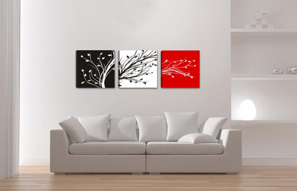 Buy 100% Handpainted living room decoration pictures High Q. wall decor abstract oil painting canvas 3 panel art mixorde framed D297