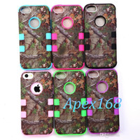 Wholesale Realtree Camo Cases Series For iphone S S C touch touch Samsung Galaxy S4 S3 s5 Hybrid Silicone Skin With Platic Shell
