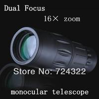 Cheap Wholesale-OP-HD Optics 16X52 Dual Focus astronomic telescope compact MINI monocular astronomical binoculars Night Vision Scope Free Shipping