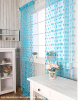 Wholesale Romantic love m meter adornment door curtain curtain shade curtain porch partition Ten colors to choose from