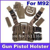 best gun holster - OP Best sell Durable Plastic Tactical Puttee Thigh Pistol Holster Leg Gun Pouch Quick Release Buckle for M92 Type Pistol Brown