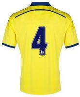 Tailandia de la calidad a medida 2014-15 CFC Amarillo hacia el otro lado tailandés de la calidad Fútbol, Nuevas camisetas de fútbol, 4 Fabregas 14-15 Fútbol Tops