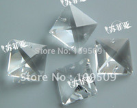 Cheap EMS Free Shipping,22 mm Clear Square Crystal Beads Chandelier Parts Jewelry Accessories