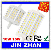 Cheap HOT 10PCS R7S 10W 15W 25W LED Corn Bulb Light 24 48 54leds 5630 5730 118mm J118 78mm J78 AC85-265V Replace Halogen Floodlight