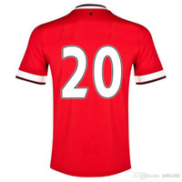 Cheap Thai Quality 2014 Season # 20 v. PERSIE Jerseys Soccer Football Jersey,Cheap Sports Uniform High Quality Outdoor Apparel on