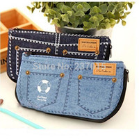Cheap New Jeans Style Makeup Cosmetic Brush Pouch Pen Pencil Coin Bag Storage Purse Case Blue