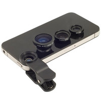 Wholesale Factory price in clip Lens Fisheye Lens Macro Wide lens for Universal phone Samsung iphone HTC Nokia