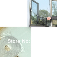Wholesale 2pcs Insect Window Net Fly Mosquito Bug Netting Mesh Screen Door Curtain Flyscreen