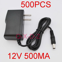 Wholesale 500pcs High quality AC DC V Power adapter V mA switching power supply Charger adaptor EU Europe plug