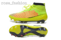 Wholesale Discount Men Soccer Shoes Magista Obra FG Cheap Football Shoes Men Soccer Cleats TPU Football Boots Outdoors Ball Sports Shoes Hi Cut Boot