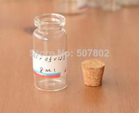 Cheap free shipping 50pcs lot 8ml factory wholesale transparent Glass Vial Bottles mini glass bottle decorative corked glass bottles