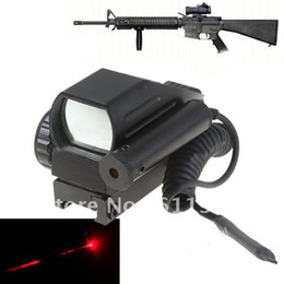 Wholesale OP Aluminum Alloy Tactical Reticle Electro Red Green Dot Reflex Sight Scope with Red Laser Sight for M4 M16