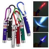 Cheap 3 in 1 Laser Pointer 2 LED Flashlight UV Torch Keychain Random Color