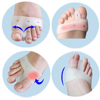 Wholesale Pair Silicone Gel Toe hallux valgus Separators Straighteners Bunion Relief Health Care Products