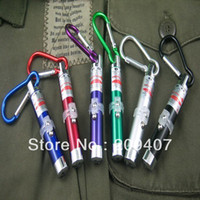 Cheap Hiking buckle red laser pen light mini led flashlight money detector lamp combination pointer pen 600 lot