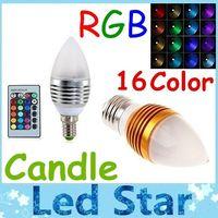 led rgb remote bulb 5w - AC V High Power W RGB Led Bulbs Light Candle Lamp Frosted Cover E27 E14 E12 Led Lights Multi Color Change Keys Remote Control