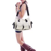 Wholesale Fashion Handbag Vintage Unisex Women Men Canvas Handbag Cross Body Bags Totes Shoulder Bag colors