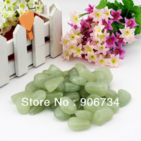 Cheap 100 Glow in the Dark Pebbles Stones for Walkway Yellow Green Decorative Gravel For Your Fantastic Garden or Yard