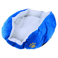 Wholesale Super Warm Soft Cat Dog Bed Pet Nest Cotton Padded Small Size Blue