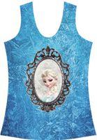Cheap HarryStore V-176 New 2014 fashion Frozen Elsa mirror 3D printed women clothing punk sexy bustier crop top drop shipping