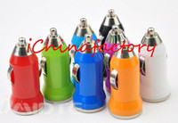 bullets - Universal Colorful Mini Single Micro USB Bullet Car Charger Power Adapter Car Chargers for iPhone Google MP3 MP4 player Samsung
