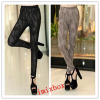 Cheap Free shipping 2014 new Arrivals imitation leather black leggings nine minutes of pants fashion Leggings W3279