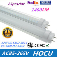 Cheap Wholesale - T8 LED Fluorescent Tube Light Lamp 120pcs SMD 3014 14W 3 Feet 900mm Warm White 85-265V CE RoHS Approved