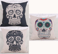 Cheap Skull Pattern 3 Patterns Cushion Cover Set Pillow Case for Home Textile Sofa Bedding Couch Decoration Free Shipping
