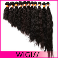 Indian Hair weave bulk - 300g Natural Black Indian Natural Wave Virgin Indian Hair Remy Human Hair Extensions Unprocessed Human Hair Wefts Hair Weave H6035A