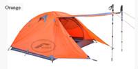 Wholesale OP Double layer with extension door person season door aluminum rod outdoor camping tent S0005