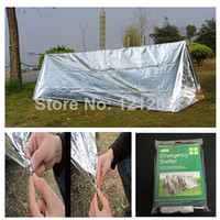 emergency survival blanket - OP First Aid Emergency Shelter Tent PET Aluminized Film Outdoor Summer Camping Hiking Survival Rescue Emergency Blanket Tube Tents