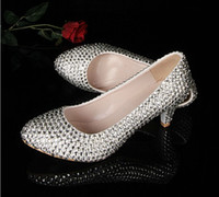 Cheap 2014 Silver Middle Heel Shoes Prom Party Pumps Stiletto wedding Shoes Discount Bridesmaid Dress Shoes Rhinestone Bridal Shoes