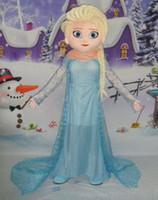 Cheap hot Elsa mascot costume frozen costume elsa mascot costume from frozen sale free shipping