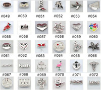Cheap wholesale 200pcs (at least 100 styles will be included) mixed floating charms for Zinc alloy glass living lockets(including a free locket)