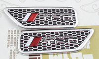 Cheap 2pcs Auto aluminium TRD Racing Development side wing Emblem Decal Badge Sticker