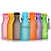 Wholesale OP Colorful Seal Leak Proof Soft Drink Bottle Portable Unbreakable Plastic Bottles