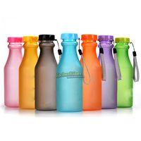 Wholesale OP Colorful Seal Leak Proof Soft Drink Bottle Portable Unbreakable Plastic Bottles