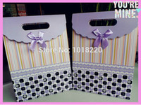 Wholesale Size S Lovely Purple Christmas Day Paper Jewelry Gift Bag Jewelry Packaging Bag Candy Box