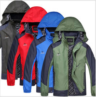 nylon windbreaker jacket - 2014 Camel Spring And Autumn Camping Hiking Men Jackets men s Outdoor Jacket Sportswear Hooded Waterproof Outerwear for men A04