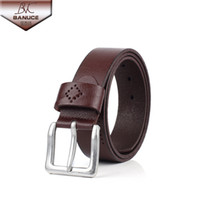 Wholesale Fashion Luxury Men s Belt Brand cm Genuine Leather Brown New Designer Bridle Metal Buckle Belts for Men Male Jeans Belts