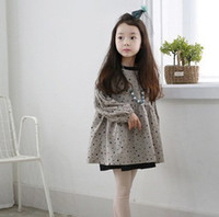 japanese dress style - 2014 New Arrival Fashion Hot Sale Korean Style Dresses Five Pointed Star Puff Sleevees Japanese Girls Double Bottoming Princess Dress
