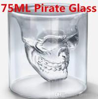 glass mug - Doomed Crystal Skull Head Vodka Shot Glass Pirate Vaccum Glasses Beer Mug Ounces ML Cup Drinking Ware Home Bar
