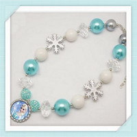 Wholesale Fashion Frozen Princess Elsa Children Baby Girl Party princess Jewelry necklace LY