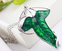 ¡Envío libre! El más barato la beca de la hoja del verde del anillo Pendiente de la broche del Pin de Elven con la broche de cadena del collar