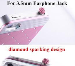 New 3.5mm Diamond Sparking Design Anti Dust Stopper Plug Dustproof Earphone Jack Ear Cap for iPhone 3g 4g 4s iPad Samsung HTC Mobile Phone