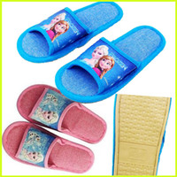 Wholesale Frozen Slippers Elsa Anna Cartoon Slippers Kids Children Slippers Household Antiskid Breathable Sweat Slippers GZ GD41