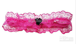 Wholesale Freeshipping Rose Bride Hen Wedding bridal Garter Sexy Lace Garter With Bow
