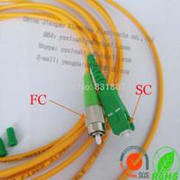 Wholesale High quality Telecom level FC to SC Fiber optic jumper M SC to FC Simplex Multimode Fiber Optic Patchcord Jumper Cable M