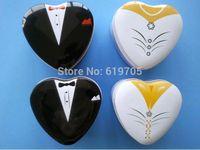 Cheap Free shipping Bride groom Mint tin wedding favor box dressed to the nines wedding candy box bridal favor box groom gift box